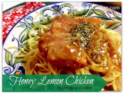 EASY Honey and Lemon chicken in the slow cooker