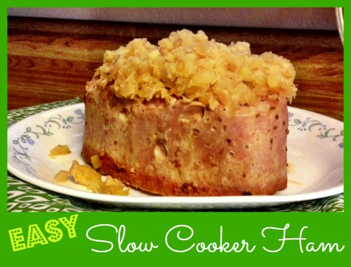 Easy Slow Cooker Ham!