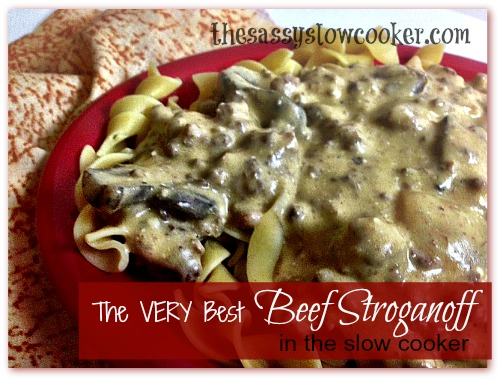The BEST Beef Stroganuff Slow Cooker Recipe!