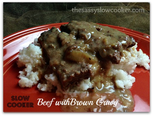 Mouth-watering slow cooker recipe: beef with brown gravy