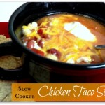 EASY slow cooker taco soup with chicken