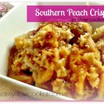 Easy southern peach crisp