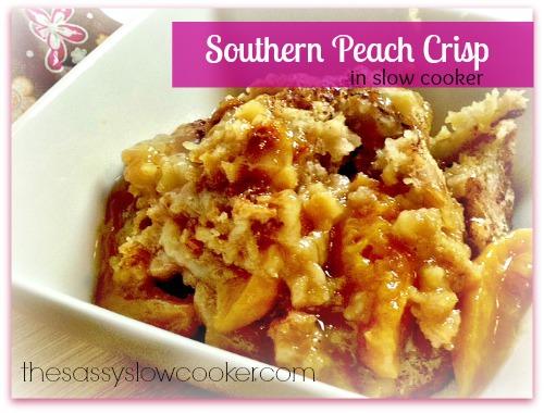 Southern Peach Crisp!