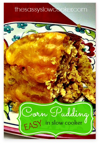 EASY Cornbread Pudding Recipe in the Slow Cooker
