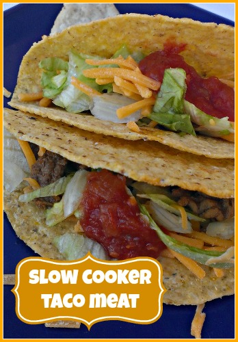 how to make taco meat in a crock pot