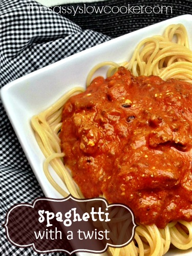 Quick Spaghetti Sauce Recipe in Slow Cooker - The Sassy Slow Cooker