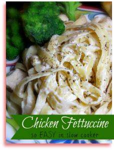 This easy Chicken Fettuccini is made in the slow cooker!