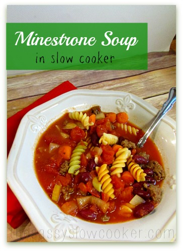 Slow Cooker Vegetable Minestrone Soup Recipe