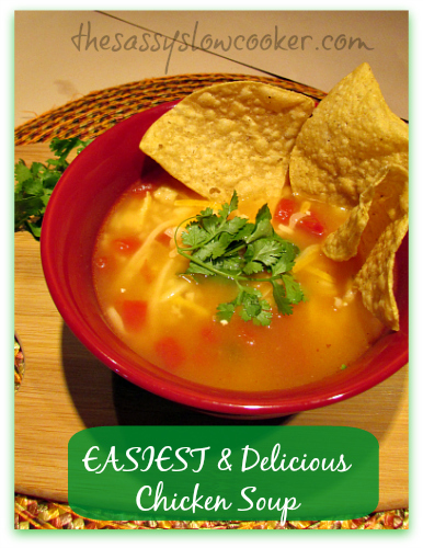 Easiest and Delicious Chicken Soup in the Slow Cooker
