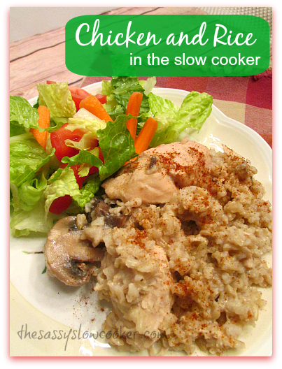 EASY Chicken Rice Recipe in Slow Cooker