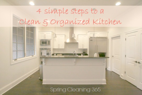 4 simple steps to a clean and organized kitchen