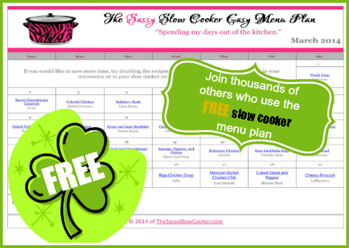Slow Cooker Family Friendly Menu Plan with Recipe Links – March