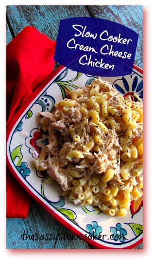 Slow Cooker Cream Cheese Chicken Casserole