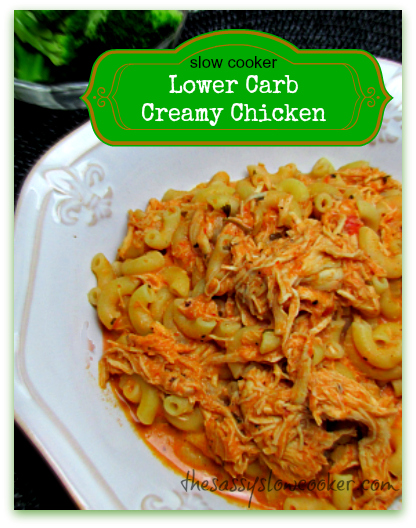 Lower Carb Chicken Recipe in the Slow Cooker