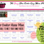 Spend your days out of the kitchen this April with this FREE Family Friendly Slow Cooker Menu!