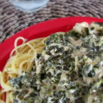 chicken spinach pasta is so easy in the slow cooker
