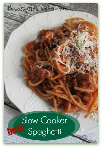 Slow Cooker Easy Spaghetti Pie