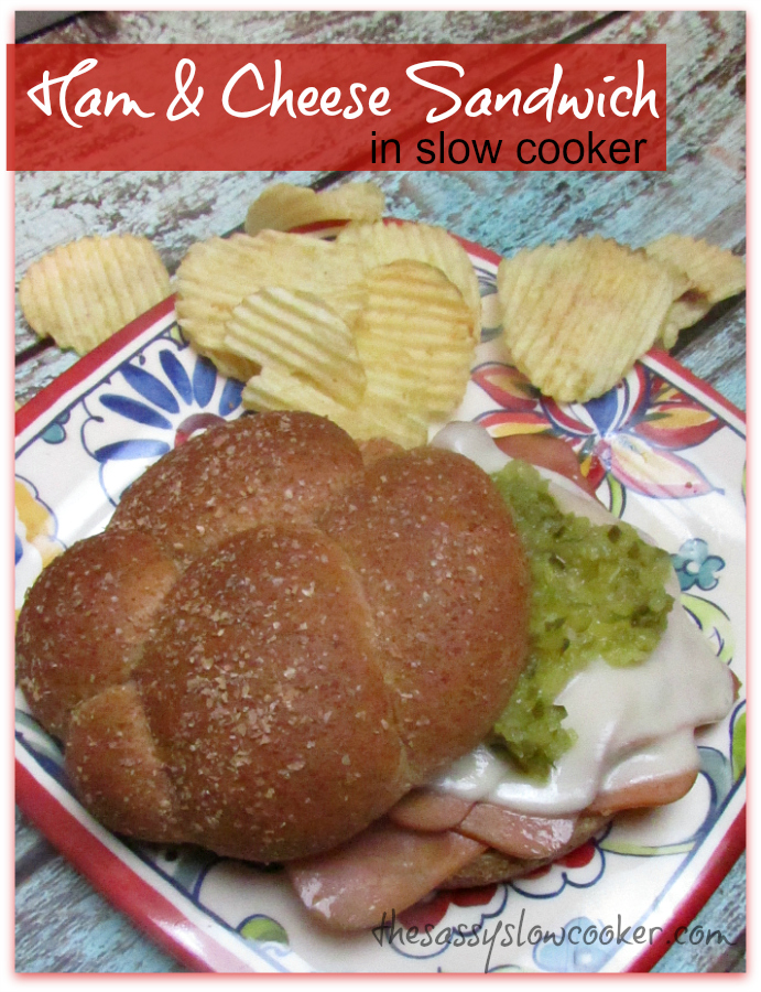 The Best Hot Ham Sandwich in the Slow Cooker!