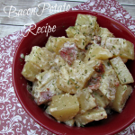 Super Easy chessy potato recipe with bacon. It's made in the slow cooker! Wonderful!