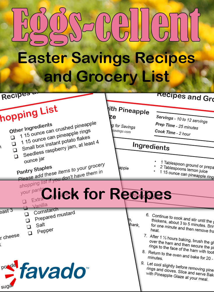 Easter Dinner on a Budget! Free Printable, Recipes, and Grocery List