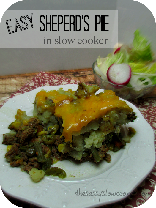 Easy, but Quick Shepherds Pie in Slow Cooker