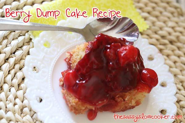 Raspberry and Cherry Dump Cake