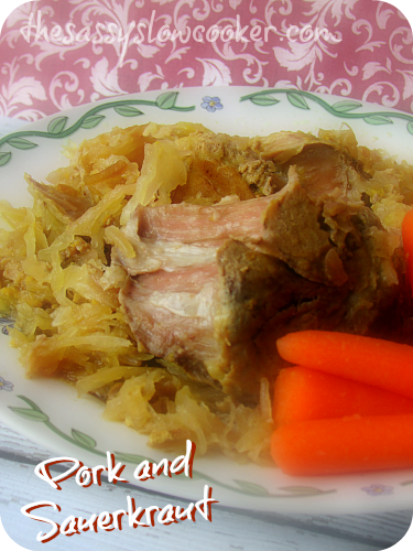 Sauerkraut Pork Roast in Slow Cooker!