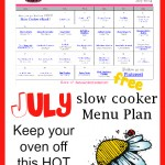 This FREE Slow Cooker Menu Plan consists of all slow cooker meals! It's editable to meet your family's needs.