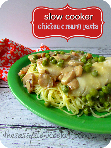 Slow Cooker Creamy Chicken Pasta