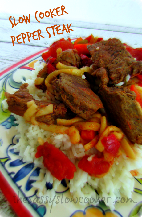 Super EASY Crock Pot Pepper Steak Recipe!