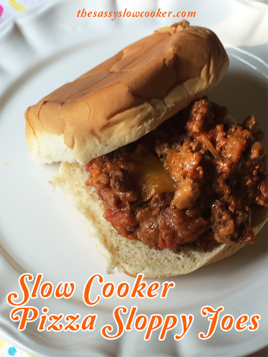 Easy Crock Pot Pizza Sloppy Joes - The Sassy Slow Cooker