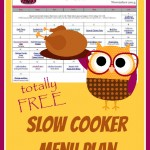 Spend the busy November out of the kitchen with this easy Slow Cooker Menu Plan. It's FREE!