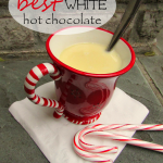 White Christmas hot chocolate