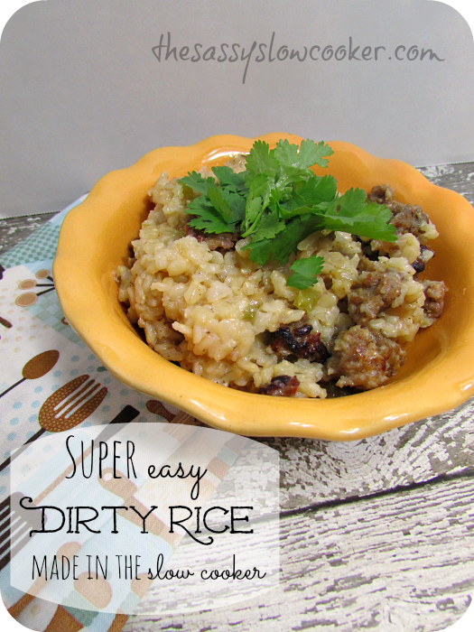 EASY Dirty Rice in the Slow Cooker!