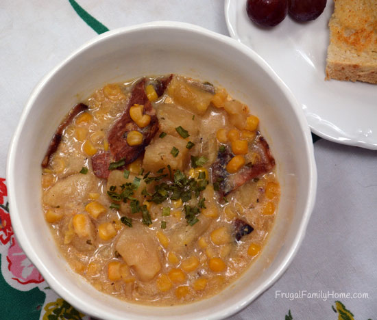Potato Corn Chowder with Bacon