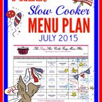 july slow cooker menu plan