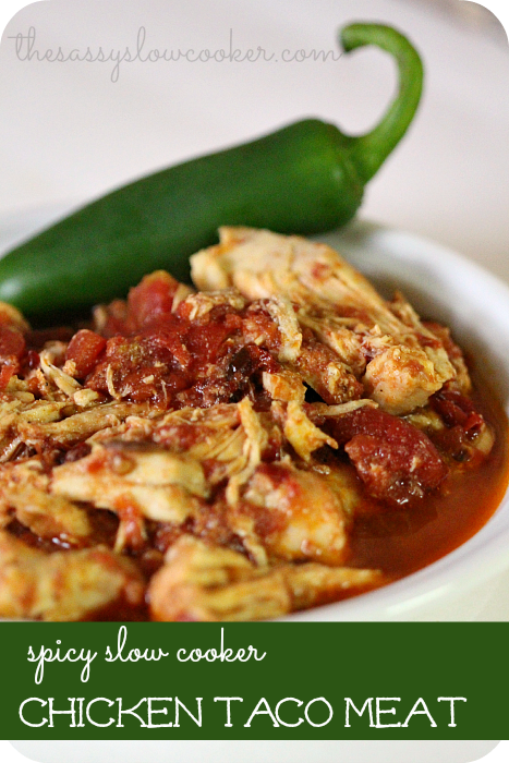 Slow Cooker Spicy Chicken Taco Meat Recipe