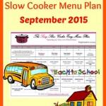 Slow Cooker Menu Plan FREE