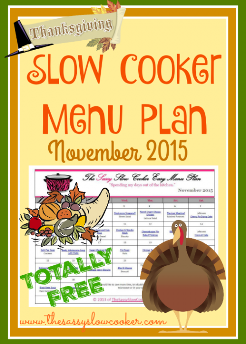 Slow Cooker Family Friendly Menu Plan