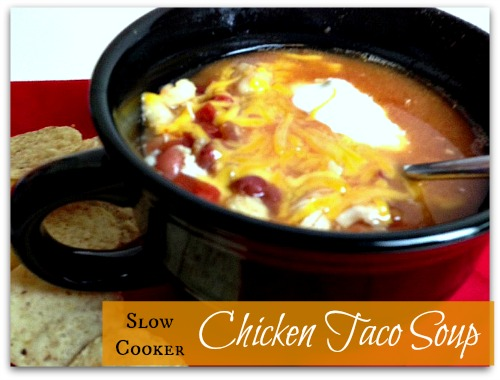 Slow Cooker Taco Soup with Chicken