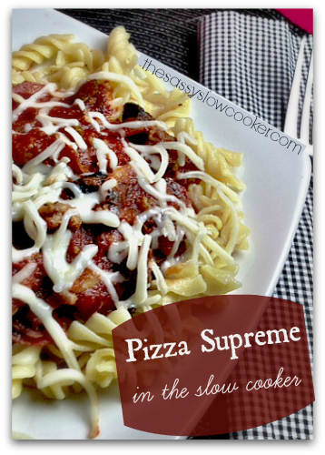 Pizza Supreme without the Crust in the Slow Cooker!