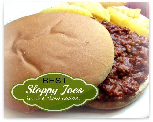 Recipe for Sloppy Joes in slow cooker