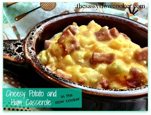 Slow Cooker Cheesy Potato Casserole Recipe with Ham