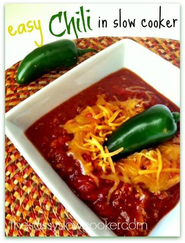 EASY Crock Pot Turkey Chili!