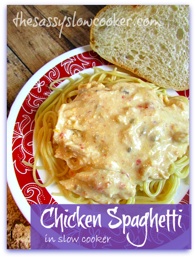How to make Chicken Spaghetti in the Slow Cooker