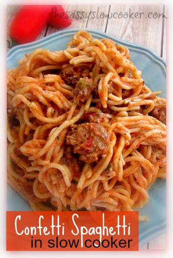 Simple Baked Spaghetti in the Slow Cooker