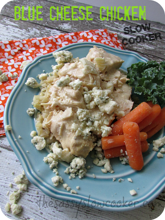 Divine Chicken with Blue-Cheese Sauce in the Slow Cooker