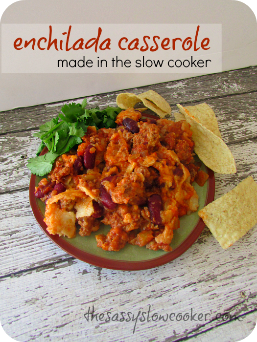 Slow Cooker Mexican Enchilada Casserole