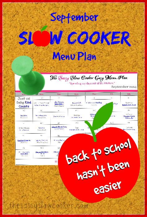 Slow Cooker Family Friendly Menu Plan – September