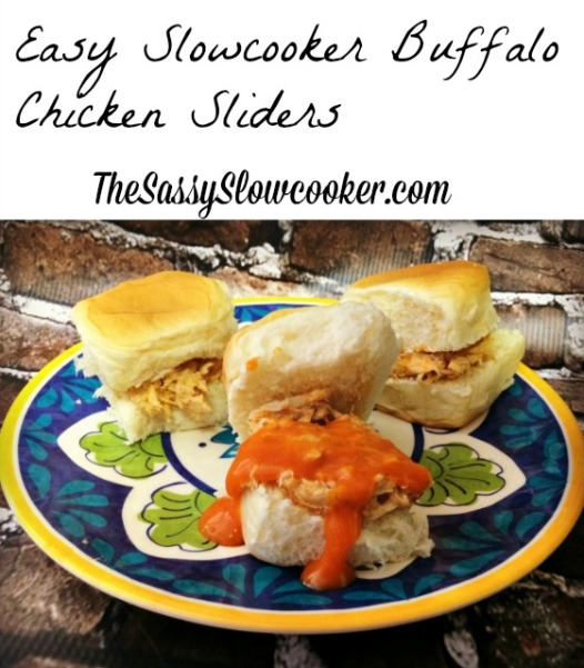 Slow Cooker Pulled Buffalo Chicken Sliders
